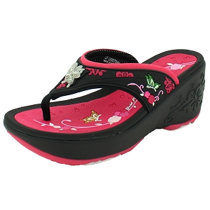 2bb1fb11e290 Womens Platform Thong  9079 Fuchsia (Size  Women 4-8)