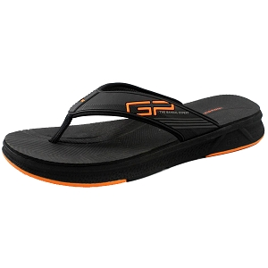 EVA Anti-Fatigue Thong: 1543 Black Orange (Size: EU39-40)