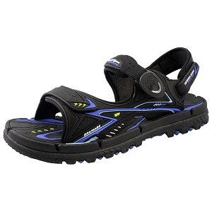 *New Arrival 5/15* Water Release Snap Lock Sandal: 1682 Black Blue (Size: EU37-44)