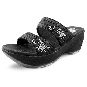Wedge Slide: 0513 Black (Size 4-8)