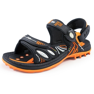 Signature Sandals for Kids: 7620B Orange Black (Size: K1-6.5)