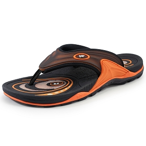 Air Cushion Thong: 6886 Orange Black  (Size: Men 7-11.5 / Women 8.5-13)