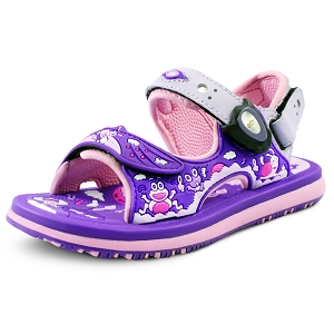 Classic Sandals for Kids: 8681B Purple (Size: T6.5-12.5)