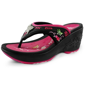 Wedge Thong: 9079 Fuchsia (Size: Women 4-8)