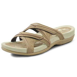 Womens Signature Slides: 7534 Tan (Size: 5.5-9.5)
