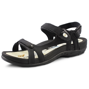Womens Signature Snap Lock Sandal: 9179 Black Beige (Size: 4-9.5)