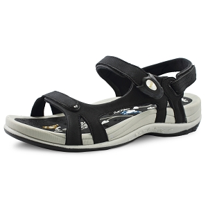 Womens Signature Snap Lock Sandal: 9179 Black Grey (Size: 4-9.5)