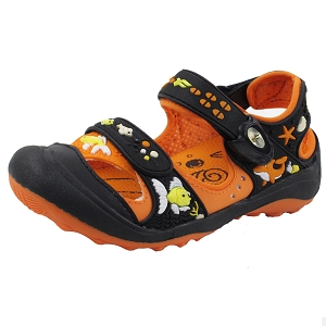 Snap Lock Sandal: 7610B Black Orange (Size: EU26-32)