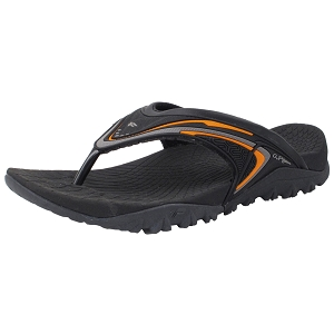 Ergonomic Flip-flops: 8507 Black Orange (Size: Men 7-12, Women 8-12)