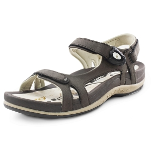 Ladies' Signature Snap Lock Sandal: 9179 Brown (Size: 4.5-9.5)