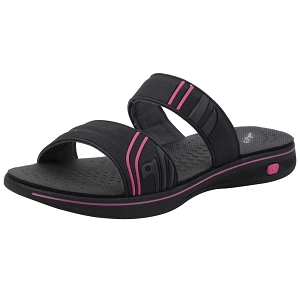 Womens EVA Slide: 8589 Black Fuchsia (Size: Women 4.5-7)