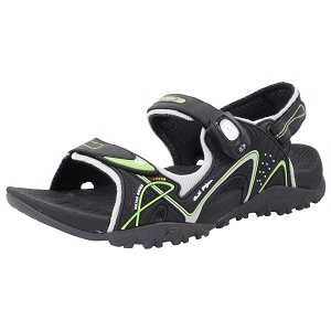 Ergonomic Snap Lock Sandal: 8661 Black Neon Green (Size: EU41-44)