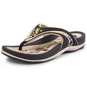 Womens Signature Flip Flops: 5893 Brown (Size: 5-9.5)