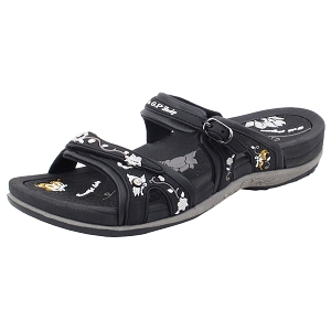 Womens Signature Slides: 6875 Black (Size: 4-9.5)