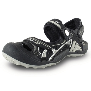 Snap Lock Sandal: 7643 Black (Size: Men 8-12, Women 9-13)