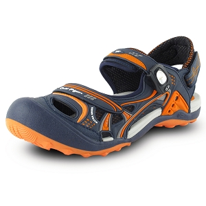 Snap Lock Sandal: 7643 Orange (Size: Men 8-12, Women 9-13)