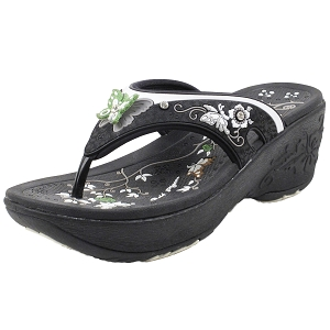 Wedge Thong: 8161 Black (Size: Women 4-8)