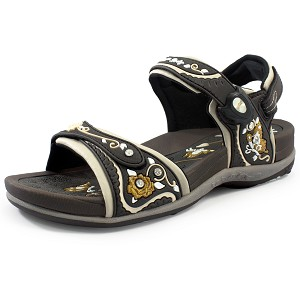 Womens Signature Snap Lock Sandal: 5991 Brown (Size: 4-9.5)